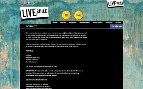 Screenshot of Contact Page livebuild.org - Contact - LiveBuild - captured Oct. 3, 2014