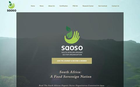 Screenshot of Signup Page saoso.org - South African Organic Sector Organisation | FOOD SOVEREIGN NATION | Become a Member - captured Oct. 29, 2018