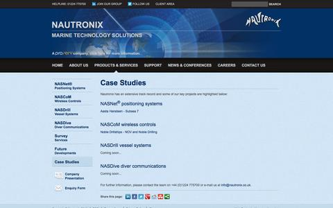 Screenshot of Case Studies Page nautronix.com - Case Studies | Nautronix - captured Jan. 10, 2016