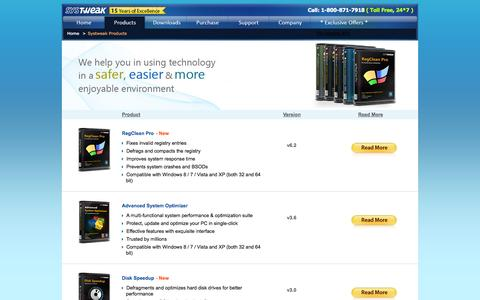 Screenshot of Products Page systweak.com - Have a Look on Complete Range of Systweak's Products - captured Sept. 19, 2014