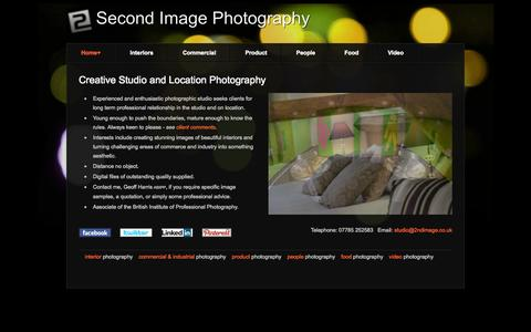 Screenshot of Home Page 2ndimage.co.uk - 2nd Image Photography - Photography of interiors, products, food, people, commerce & industry. Cumbria, Lancashire, Scotland, UK - captured Oct. 6, 2014