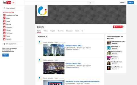 Screenshot of YouTube Page youtube.com - Colors  - YouTube - captured Oct. 22, 2014
