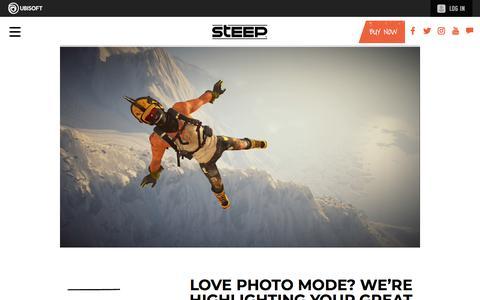 Screenshot of Press Page ubisoft.com - Love Photo Mode? We're highlighting your great screenshots!  | Steep Game News & Updates | Ubisoft (CA) - captured Nov. 8, 2019