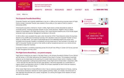Screenshot of About Page corptraveller.co.uk - Business Travel Experts - About Us   Corporate Traveller - captured Oct. 3, 2014