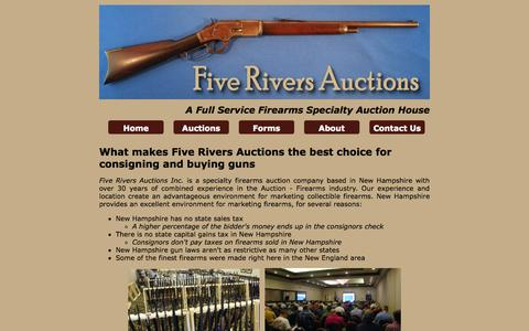 Screenshot of About Page fiveriversauctions.com - Five Rivers Auctions    About - captured Oct. 27, 2014
