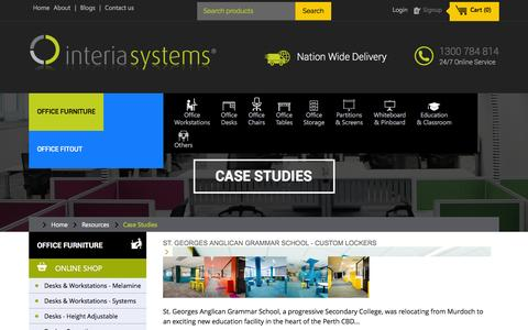 Screenshot of Case Studies Page interiasystems.com.au - Case Studies - captured Aug. 6, 2016