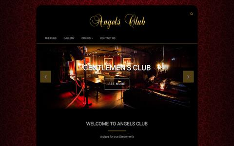 Screenshot of Home Page angelsclub.dk - Angels Club - Gentlemen's Club - captured Dec. 5, 2015