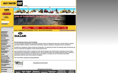 Screenshot of Landing Page kellytractor.com - Kelly Tractor: Herramientas Neumáticas - captured Aug. 12, 2016
