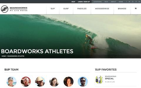 Screenshot of Team Page boardworkssurf.com - Boardworks Athletes - Boardworks - captured Jan. 6, 2016