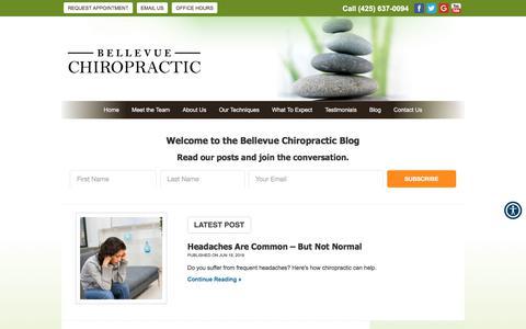 Screenshot of Blog bellevuechiro.com - Blog   Bellevue, WA   Bellevue Chiropractic - captured July 1, 2018