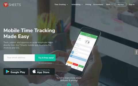 Best Mobile Time Clock App - Mobile Employee Timesheets - TSheets
