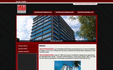 Screenshot of Home Page tarinternacional.com.mx - Inicio | TAR Internacional - captured Feb. 27, 2016
