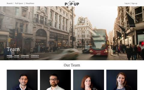 Screenshot of Team Page wearepopup.com - Team | We Are Pop Up - captured Jan. 17, 2016