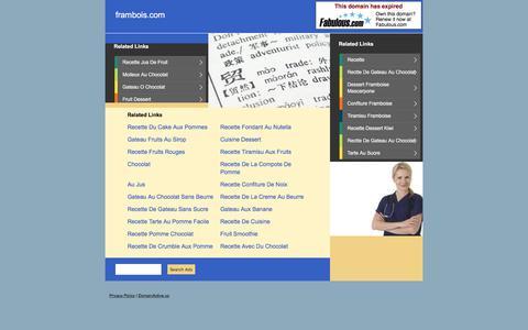 Screenshot of Home Page frambois.com - frambois.com - captured June 6, 2017