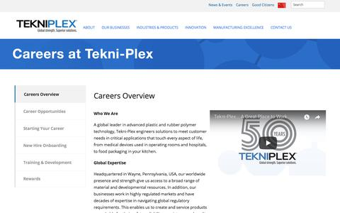 Screenshot of Jobs Page tekni-plex.com - Careers – Tekni-Plex - captured Oct. 20, 2017