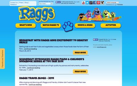 Screenshot of Press Page raggs.com - Holiday Travel Kids | Mexico & Carribbean | Play at Palladium | RAGGS - captured Oct. 5, 2014