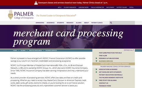 Merchant Card Processing Program