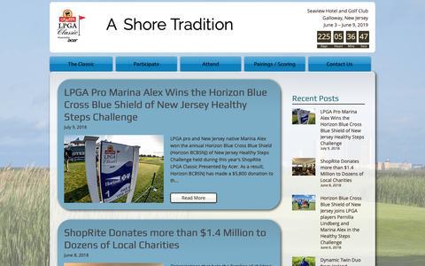 Screenshot of Press Page shopritelpgaclassic.com - ShopRite LPGA Classic Presented by Acer | News - captured Oct. 20, 2018