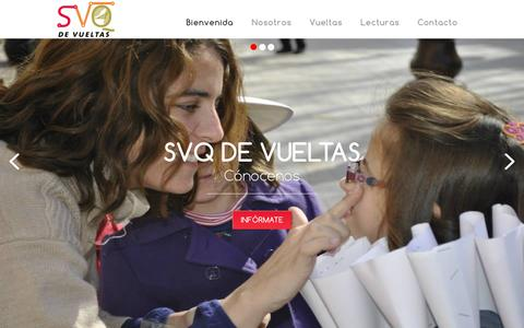 Screenshot of Home Page svqdevueltas.es - Bienvenida - captured Sept. 12, 2015