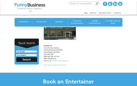 Screenshot of Contact Page funny-business.com - Contact Us | Funny Business Agency - captured Oct. 6, 2014