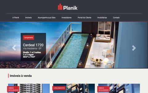 Screenshot of Home Page planik.com.br - Planik - captured Sept. 19, 2015