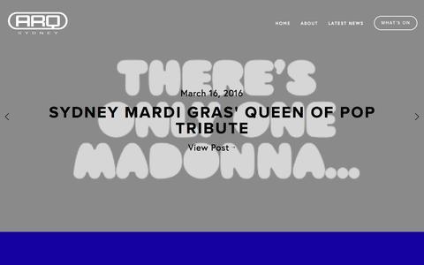 Screenshot of Press Page arqsydney.com.au - ARQ Sydney — LATEST NEWS - captured March 23, 2016