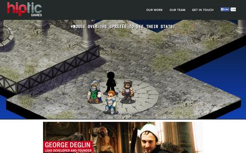 Screenshot of Team Page hiptic.com - Hiptic - Building hit mobile games for Android and iOS - captured Oct. 2, 2014