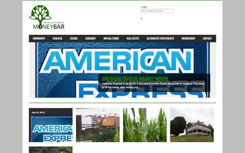 Screenshot of Home Page moneybar.com - Moneybar | The Investment Social Network - captured Oct. 7, 2014