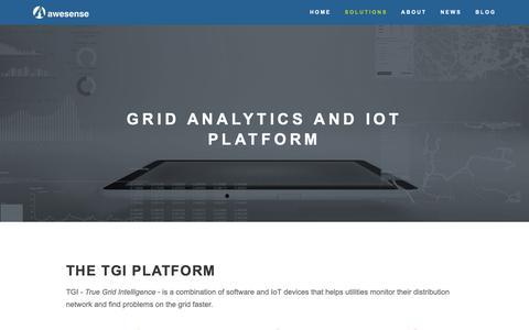 Screenshot of Products Page awesense.com - Grid Analytics  and IoT Platform — Awesense - captured Oct. 4, 2018