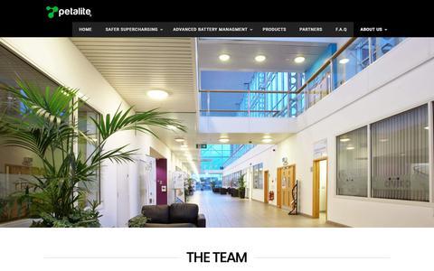 Screenshot of Team Page petalite.co.uk - Team - Petalite - captured Sept. 27, 2018