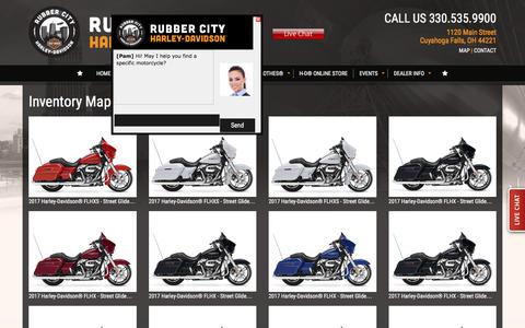 Screenshot of Site Map Page rubbercityharley.com - Inventorymap | Rubber City Harley-Davidson® | Cuyahoga Falls Ohio - captured Dec. 1, 2016