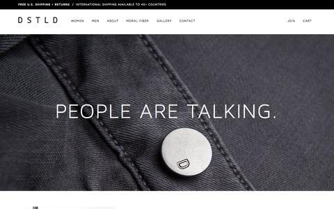 Screenshot of Press Page dstldjeans.com - Press | DSTLD Luxury Jeans & Essentials | No Retail Markup - captured Sept. 25, 2015