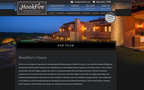 Screenshot of Team Page hookfire.com - Hookfire Outfitters - Hunting Trips - Hunting Lodges - Fishing Trips - Fishing Lodges - captured Nov. 12, 2016