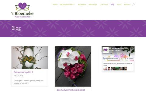 Screenshot of Blog hetbloemeke.nl - Blog - 't Bloemeke - captured Sept. 23, 2015