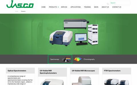 Screenshot of Products Page jasco.co.uk - Jasco UK Products - captured Oct. 1, 2018