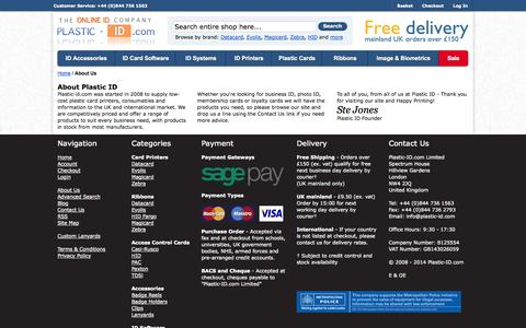 Screenshot of About Page plastic-id.com - About  Us - captured Oct. 3, 2014