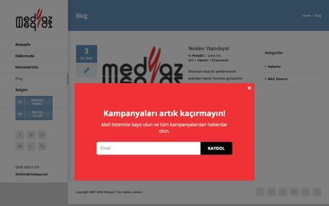 Screenshot of Blog medyaz.net - Blog - MedyaZ İnternet Hizmetleri - captured July 10, 2018