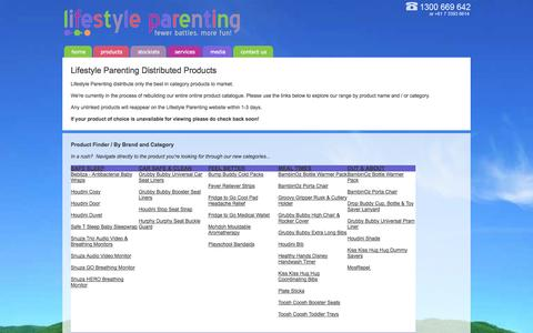 Screenshot of Products Page lifestyleparenting.com - ::Lifestyle Parenting:: - captured Sept. 30, 2014