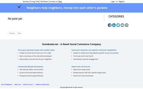 Screenshot of Blog storebook.net - Storebook - Open your store to the world - captured May 1, 2017