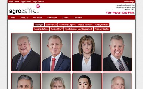 Screenshot of Team Page agrozaffiro.com - Our People - captured Feb. 5, 2016