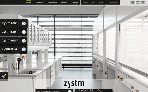 Screenshot of Home Page zystm.com - Inventar og indretning af hospital, laboratorie, skole m.m. - Zystm - captured Nov. 15, 2018