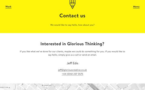 Screenshot of Contact Page gloriouscreative.co.uk - Contact Đ Glorious Creative - captured Dec. 5, 2015