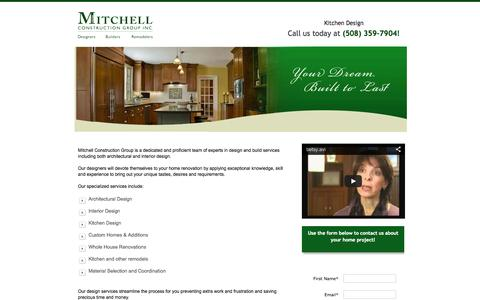 Screenshot of Landing Page mitchcogroup.com - Kitchen Design - captured Oct. 27, 2014