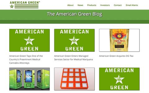 Screenshot of Blog americangreen.com - AmericanGreen |   Blog - captured Oct. 29, 2014