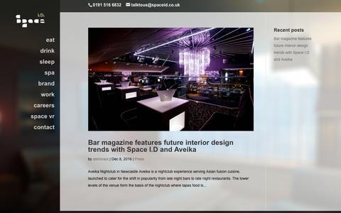 Screenshot of Blog spaceid.co.uk - Space I.D. blog - captured Sept. 21, 2018