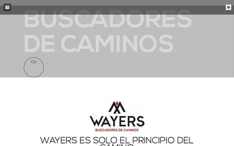 Screenshot of Home Page wayersproject.com - Wayers Project. Buscadores de caminos - captured Dec. 17, 2016