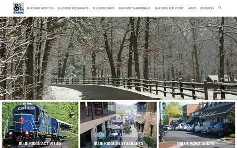Screenshot of Blog southerncomfortcabinrentals.com - Blue Ridge, GA Restaurants, Shops, & Activities - captured Feb. 24, 2016