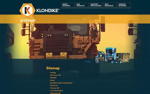 Screenshot of Site Map Page klondikelubricants.com - Sitemap   Industrial Lubricants, Oils & More   KLONDIKE - captured Oct. 16, 2017