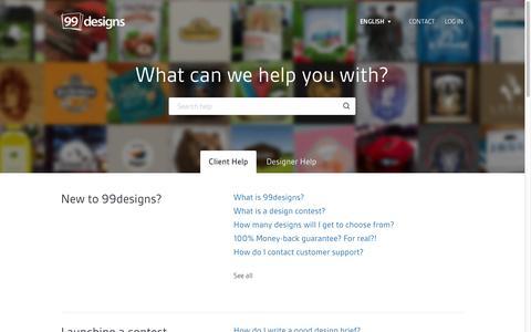 Screenshot of FAQ Page 99designs.com - 99designs |        Help - captured Sept. 10, 2014