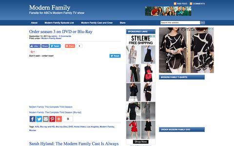 Screenshot of Home Page modern-family-tv.com - Modern Family ABC - A fansite for ABC's Modern Family TV show. - captured Feb. 27, 2017